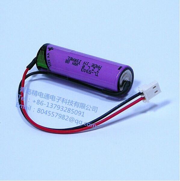 以色列TADIRAN塔迪兰TL-5903 加插头  3.6V 2400mAh AA 锂电池 4