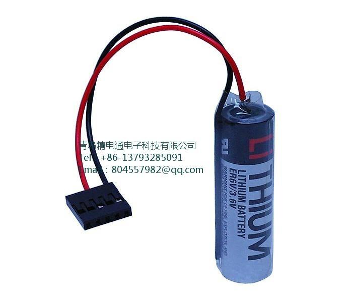 日本TOSHIBA 东芝 锂电池 ER6V-Yaskawa安川机械手表用 带JAE插头 ER6VC3N 5