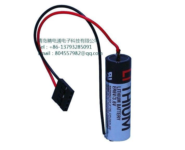 日本TOSHIBA 东芝 锂电池 ER6V-Yaskawa安川机械手表用 带JAE插头 ER6VC3N 4
