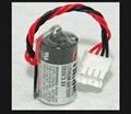 TOSHIBA 东芝 ER3V 1/2 AA 锂电池 ER3V 带4线 插头  富士触摸屏专用电池 1