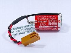 日本万盛 MAXELL 电池 ER3 1/2AA 3.6V  1000mAh  锂电池 +JAE Connector
