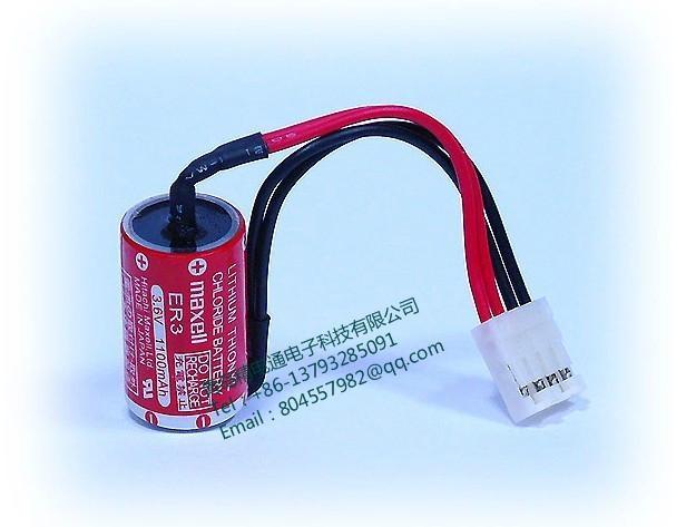 MAXELL 电池 ER3 1/2AA 3.6V  1000mAh  锂电池 +4P 插头 富士触摸屏专用 1