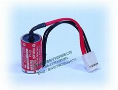 MAXELL 电池 ER3 1/2AA 3.6V  1000mAh  锂电池 +4P 插头 富士触摸屏专用