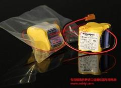 松下 BR-2/3AGCT4A  發那科專用電池 6V   +JAE 黃插頭
