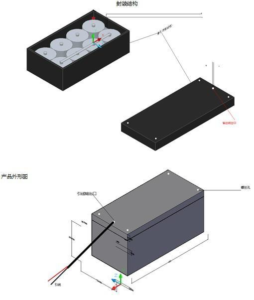 高铁 路桥检测系统电池 特种长效专用电池 WLS-70Ah 4.12V-4.19V 70Ah 2