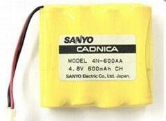 Spot wholesale 4 n - 600 - aa 4.8 V 600 mah sanyo battery pack