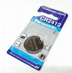 公司直供 原装 CR2412 松下3V 进口锂锰 纽扣电池 汽车遥控器电池