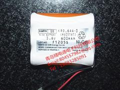 充電電池 KRO.6AA.3 RA05161 600mAh 3.6V 三洋電池組