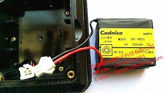 充电电池 5KF-B650 三洋 SANYO 电池组 5V 650mAh 2