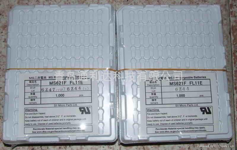 日本精工MS621FE-FL11E 3V  5.5mAh 纽扣锂电池 1