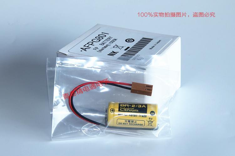 AFPG801 BR2/3A 松下PLC电池 FP-X0L40/FP-X0L60/FP2-C2/FP3电池 3