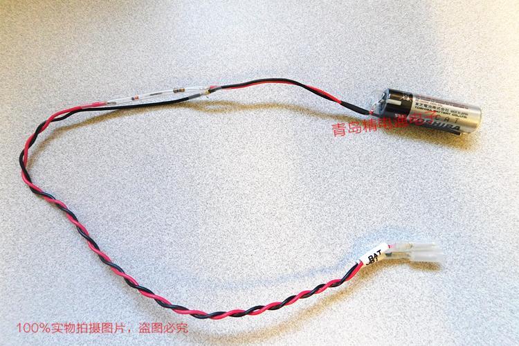 ER6V 子弹头插头 带二极管/电阻 机器人本体电池 东芝Toshiba 3.6V 电池 7