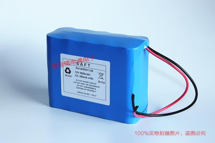 SAFT REF:2420411-02 镍镉充电电池组 12V 3600mAh 9