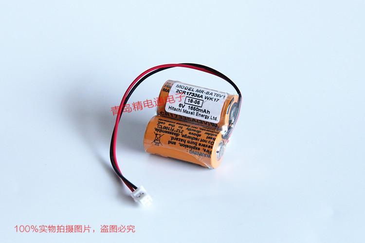 CR17335A WK17 MR-J4伺服锂电池 MR-BAT6V1SET锂电芯 Maxell CR17335A 2