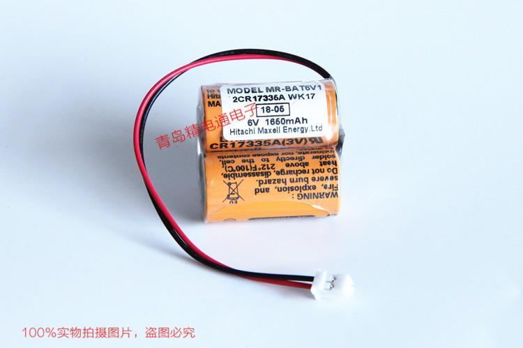 CR17335A WK17 MR-J4伺服锂电池 MR-BAT6V1SET锂电芯 Maxell CR17335A 19