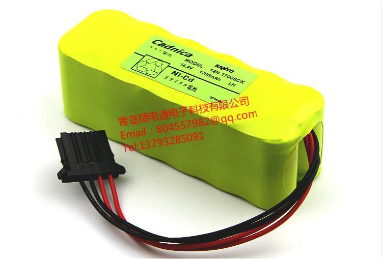 12N-1700SCK SANYO三洋 设备仪器 电池 14.4V 1600mAh 可充电电池 1