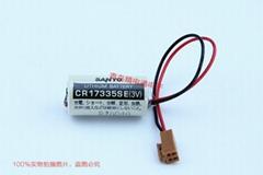 SANYO三洋 CR17335SE 帶插頭 焊片/腳 鋰電池 按要求加插頭/組合