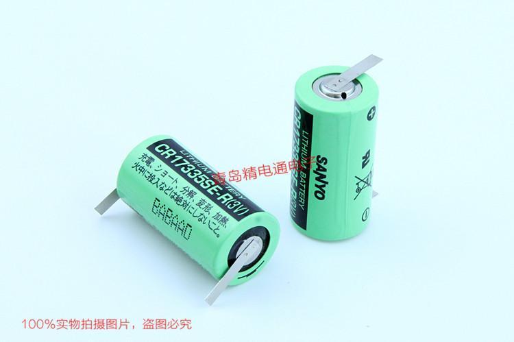 SANYO三洋 CR17335SE-R 带插头 焊片/脚 锂电池 按要求加插头/组合 3