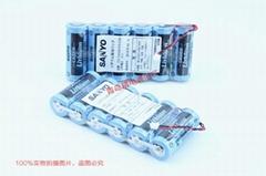 CR12600SE 三洋 SANYO 3V 富士FDK 锂电池 CR12600SE-T1 带焊片