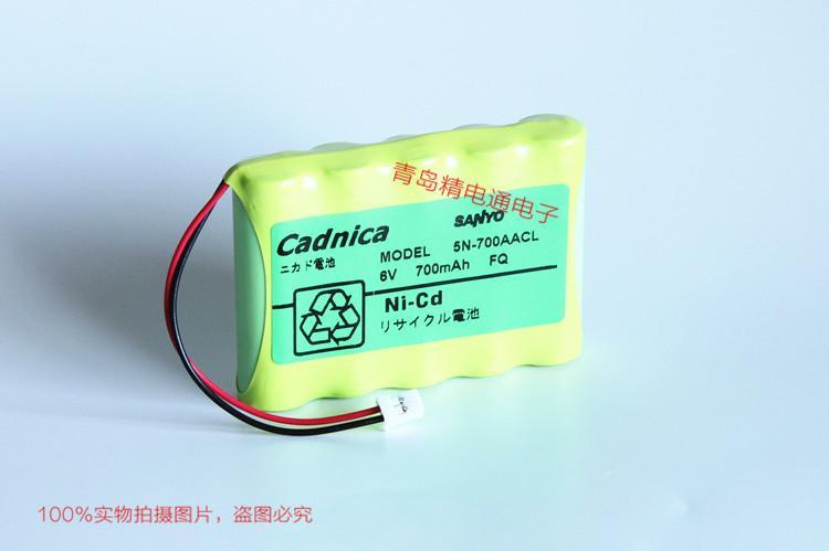 三洋 Sanyo Cadnica 5N-700AACL 三洋 6V 700mAh 充电电池组 现货 5