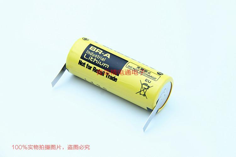 BR-A BR17455 松下Panasonic 锂氟化石墨 电池 可加插头/焊脚 3
