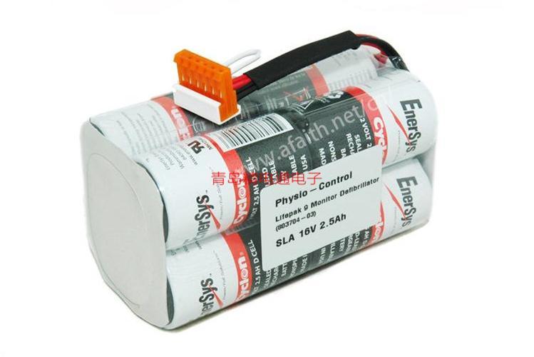 16V 2.5Ah Lifepak9除颤仪电池组Medtronic 16V2.5AH Cyclon EnerSys 西科 5