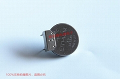 ML2430 ML2430-TT2 單體 帶焊片 帶插頭 SANYO三洋 3V 充電紐扣電池