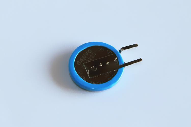 ML1220 单体 带脚 按要求加脚/插头 三洋 SANYO 3V充电纽扣电池 9