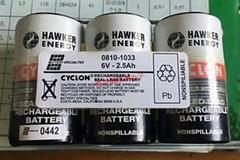 0810-1033 6V-2.5Ah Cyclon EnerSys 西科龍 鉛酸蓄電池