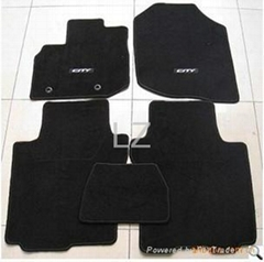 Premium Fashion Non woven Velour carpet car mat (550g/m2 +PVC Nail backing)