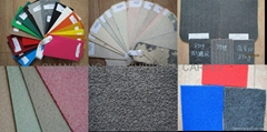 Exhibition floorcovering: Vinyl, rubber, needle punch, carpet tiles