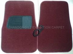 4pcs/Set Best Quality Carpet Car Floor Mats+ color: Gray/Black/Beige/burgundy+An