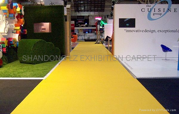 Expo Exhibition Stands Yellow : Yellow carpet exhibition for stands aisle events