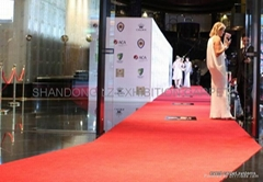 Red carpet exhibition for stands, aisle, events, marquee, show, party