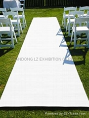 White carpet exhibition for stands, aisle, events, marquee, show, party