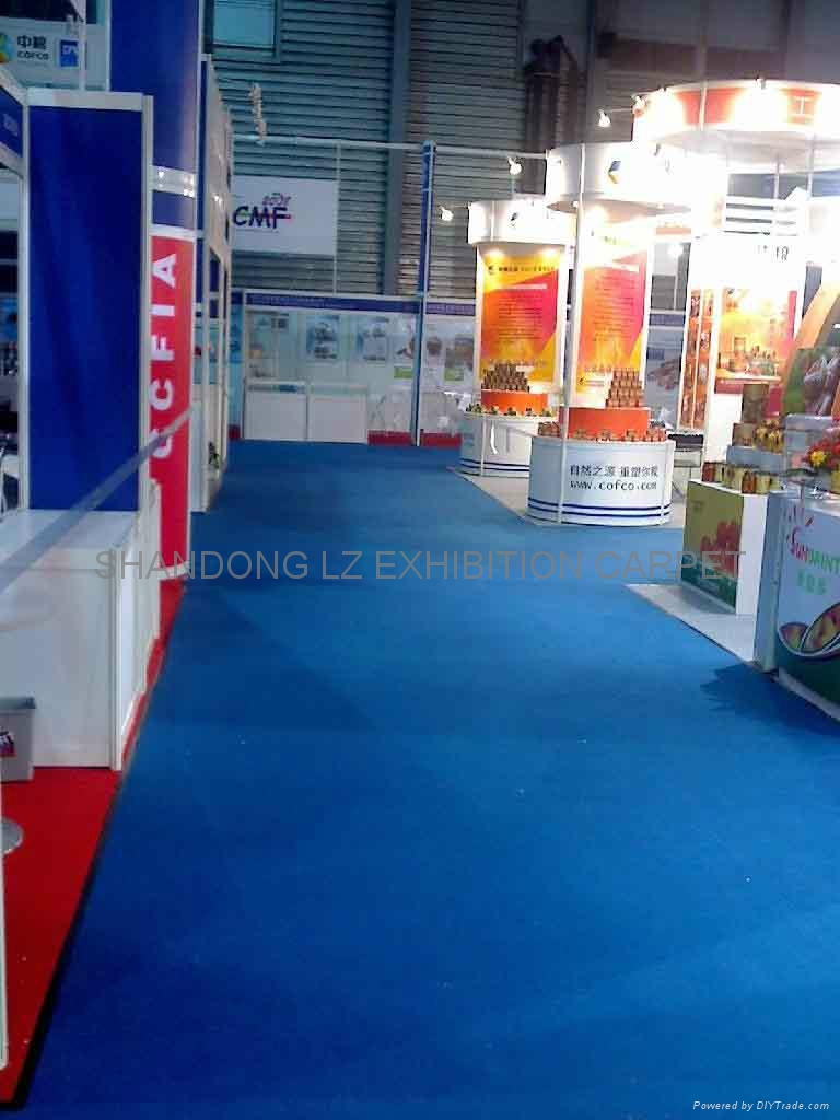 Exhibition Stand Carpet : Blue carpet exhibition for stands aisle events marquee