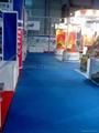 Blue carpet exhibition for stands, aisle