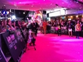 Pink carpet exhibition for stands, aisle