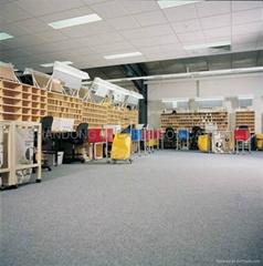 Broadloom fine-ribbed 100% polypropylene carpet 1325g +Water Resistant Resin