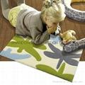 Area rug with eva, latex foam backing