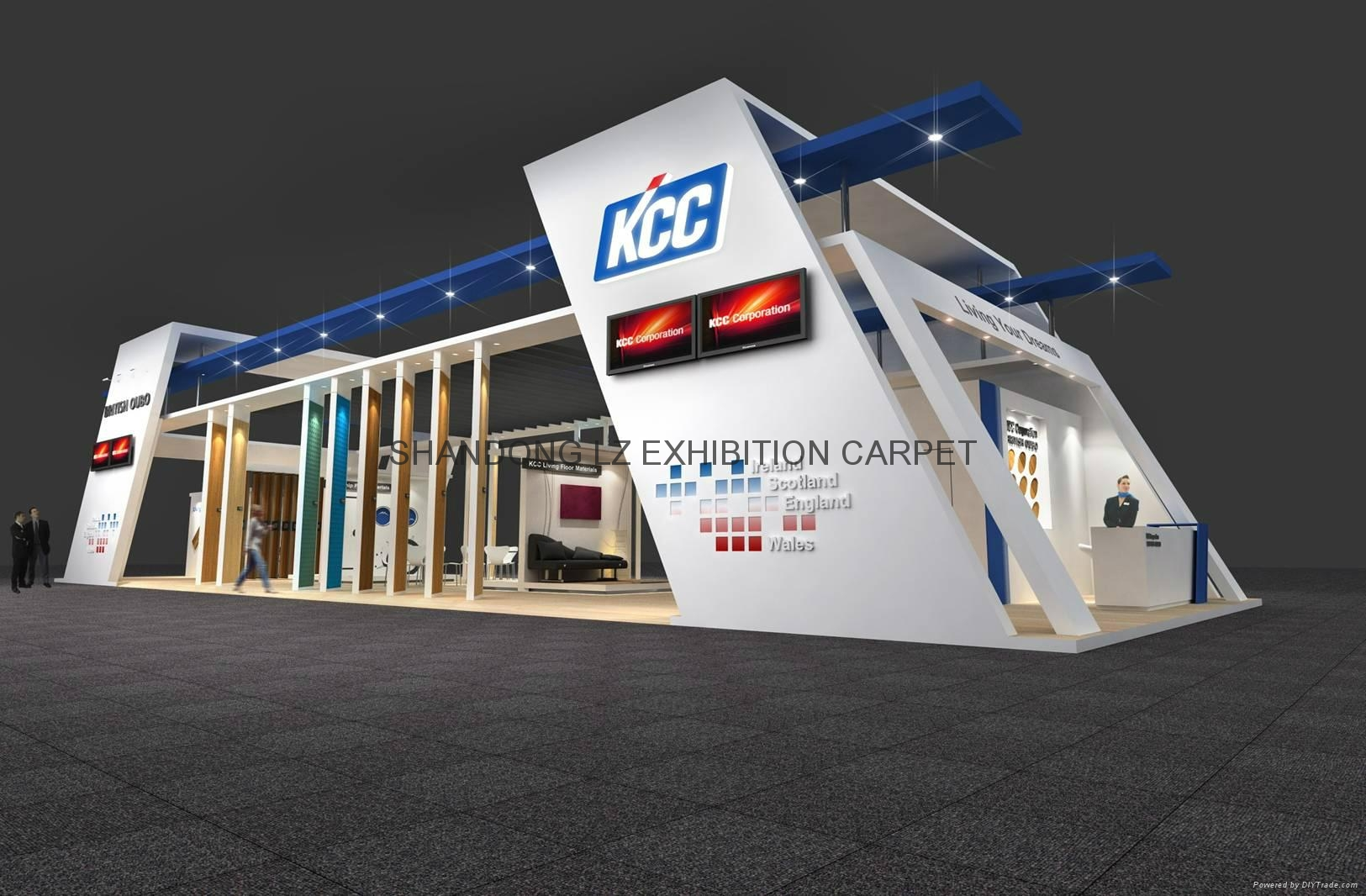 Exhibition floorcovering: Vinyl, rubber, needle punch, carpet tiles 7