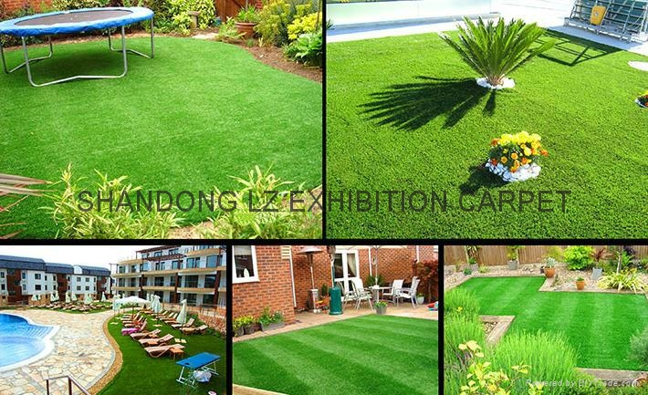 Garden floorcovering: artificial grass needle punch and tufted Cfl-s1 2*30m, 4*3 2