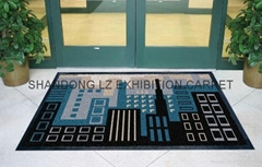 Outdoor Entrance Mat: nylon surface with rubber backing
