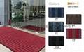High-end cut pile door mat with PVC
