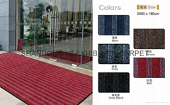 High-end cut pile door mat with PVC backing