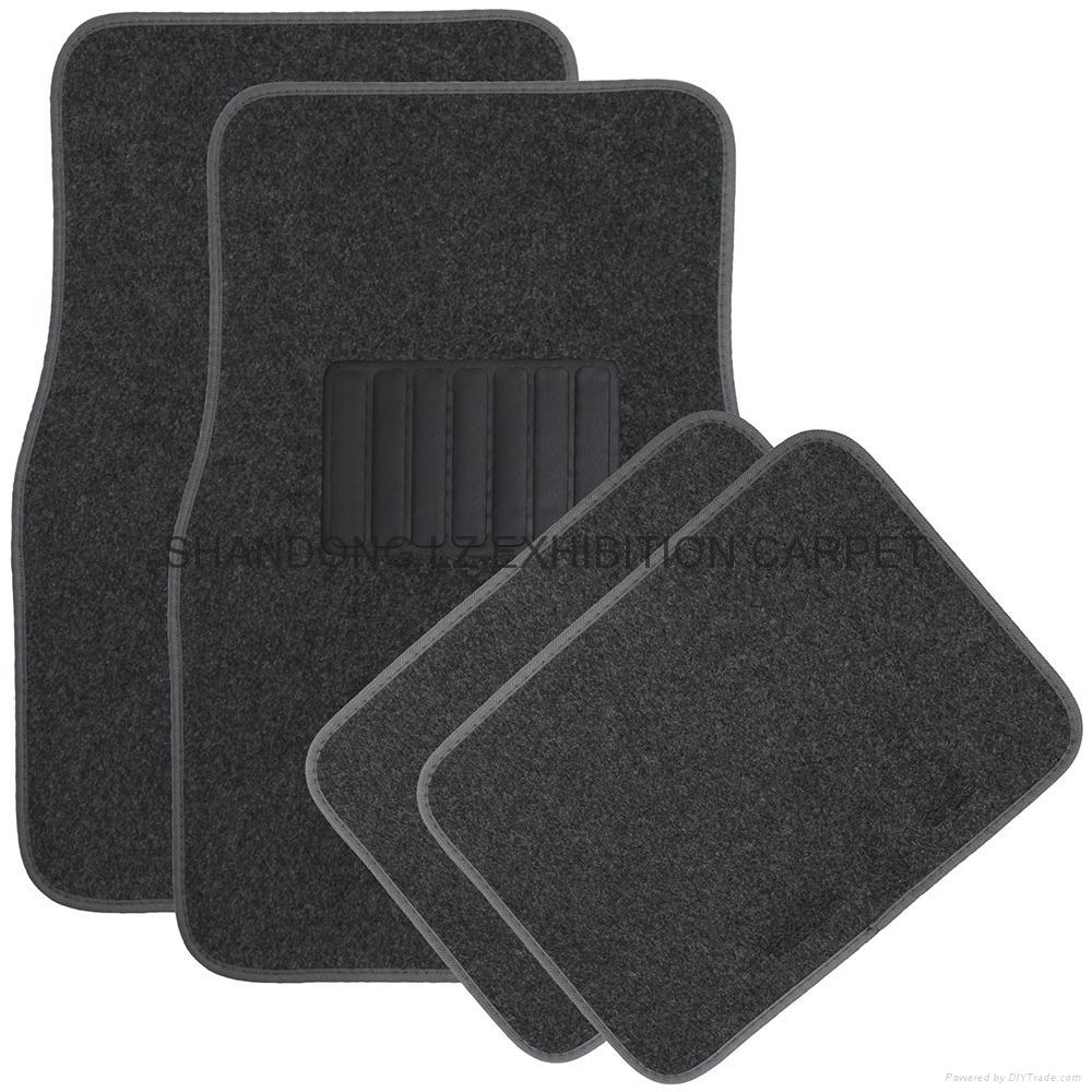 auto mall car dealer shop supply interior accessories 4 pcs car floor mat with 18
