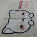 Artificial grass mat backing TPR PVC PP Cut pile 4