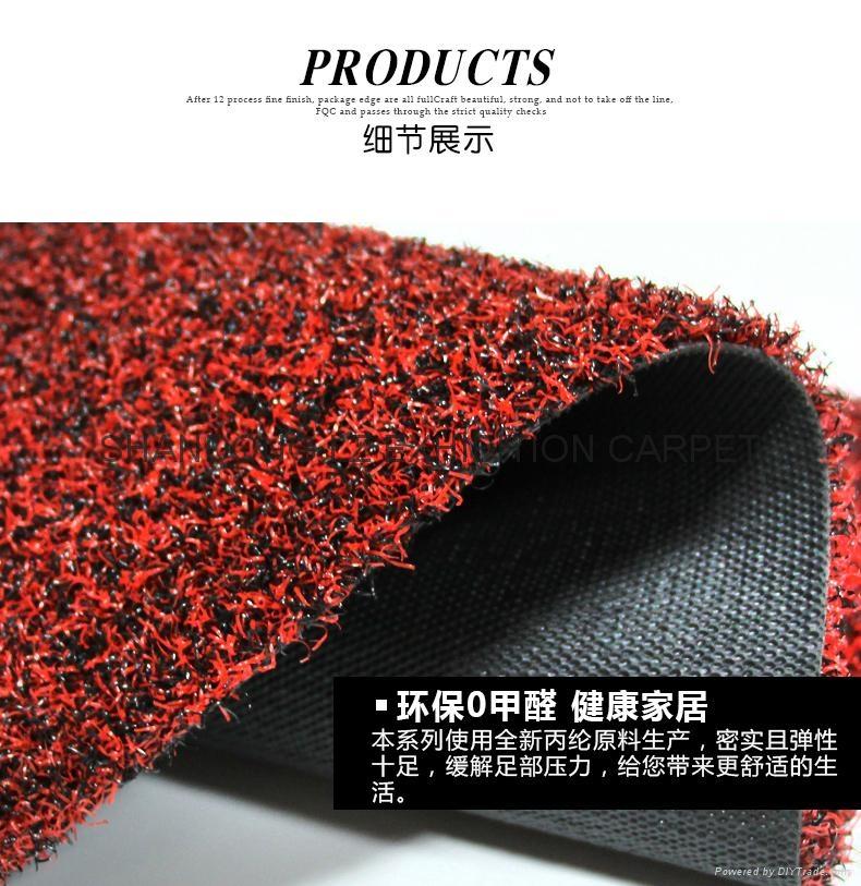 Artificial grass mat backing TPR PVC PP Cut pile 5