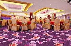 76DPI chromojet printed cut pile wall to wall carpet for hotel/cinema casino