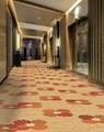 100% Polyester BCF Printing Contract Carpet 76DPI Fire retardant